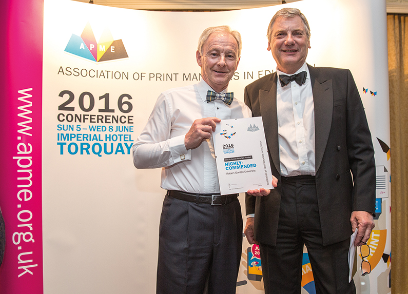 Bill Walker collects the highly-comended award