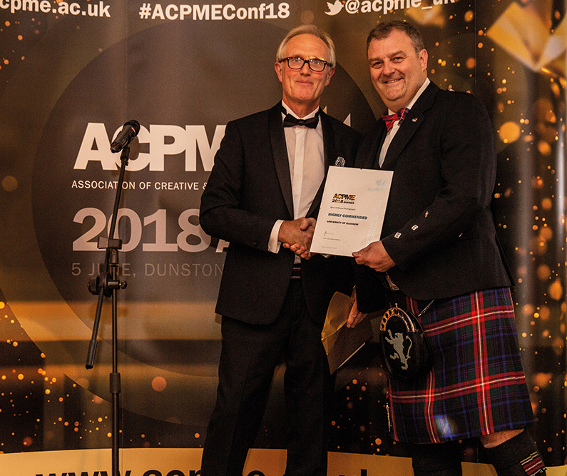 Highly-commended: University of Glasgow
