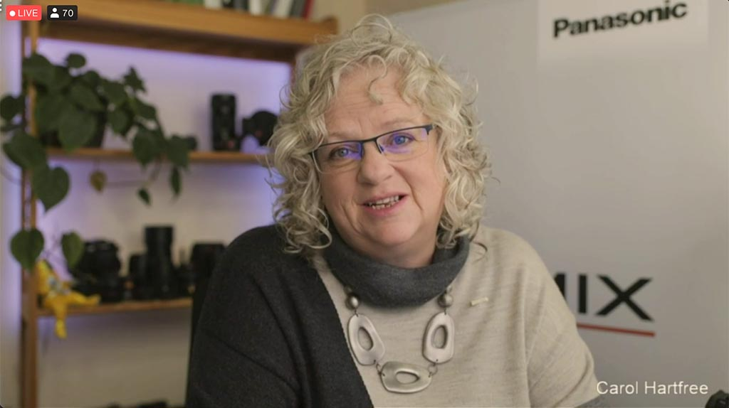 Carol Hartfree, Imaging Specialist, Panasonic Lumix – 'Looking Good in a Virtual World'