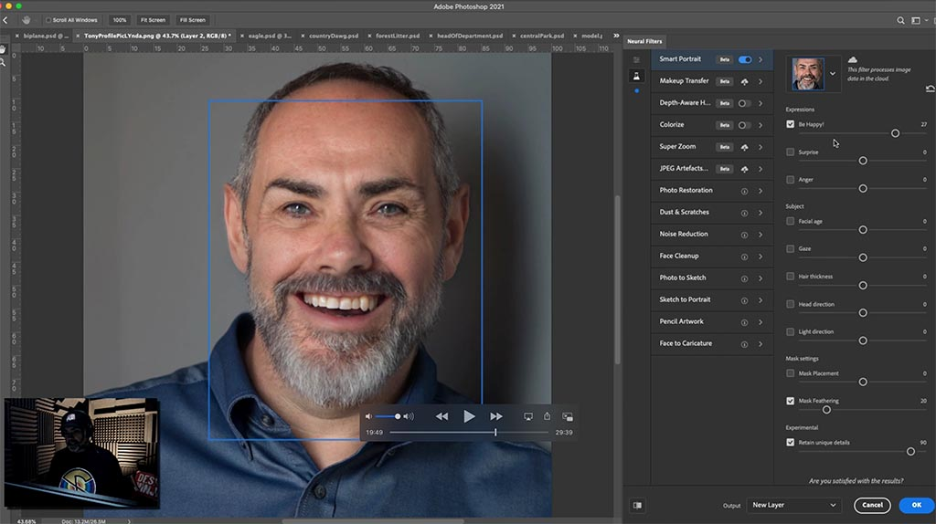 Tony Harmer, The Work Smarter, Not Harder Dojo (at Wizardry Ltd) – even showed us how to make portraits smile with Adobe Sensei in Photoshop